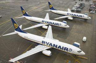 מטוסים של חברת ריינאייר