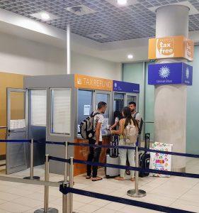 דלפק החזר המס בשדה התעופה בפאפוס
